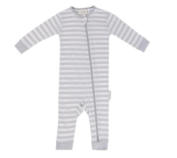 Woolbabe Merino/Organic Cotton Pyjama Suit - Pebble