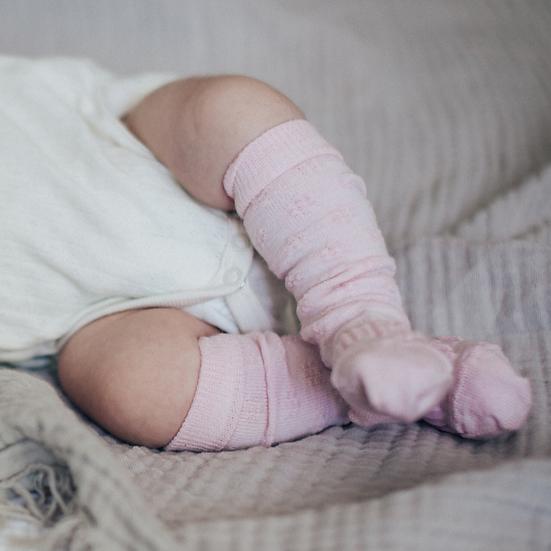 Lamington Merino Knee High Socks - Dahlia