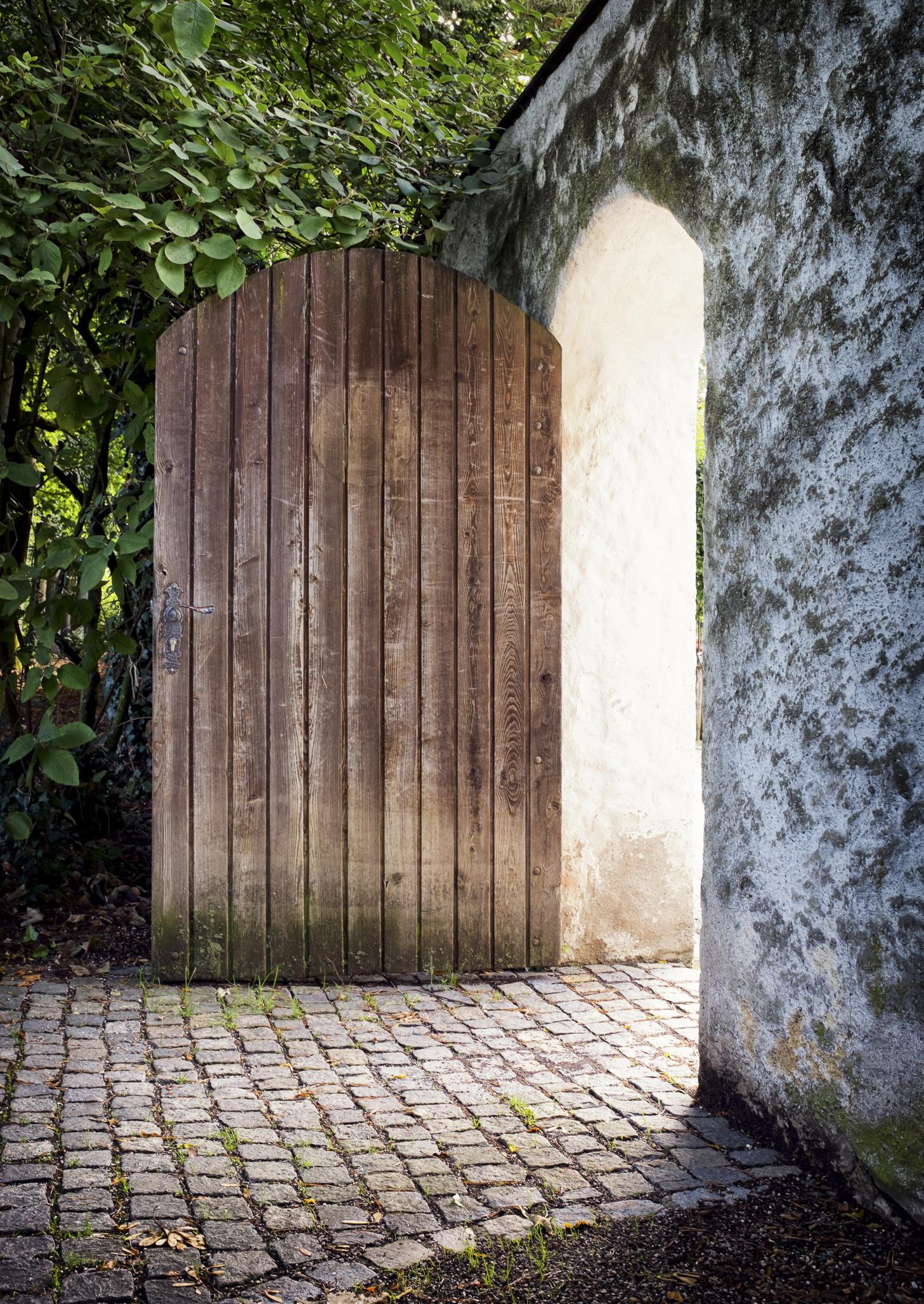 Open door into light from dreamstime