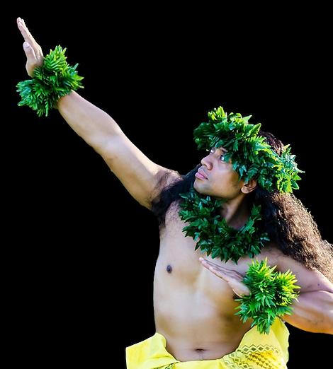 Hawaiian Hula Kahiko Kane (Male) Dancer