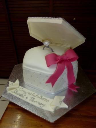 Ann's Unique Cakes Engagement Cake