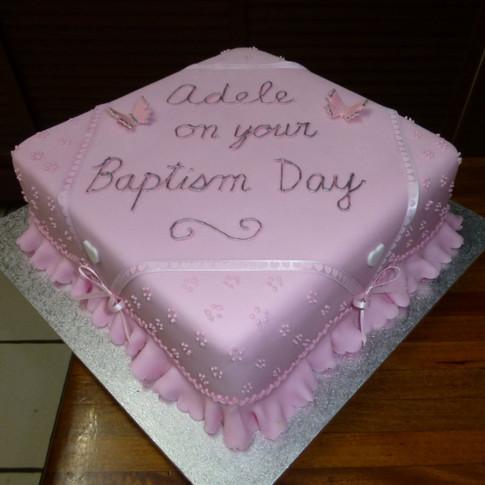 Ann's Unique Cakes Baptism Cake