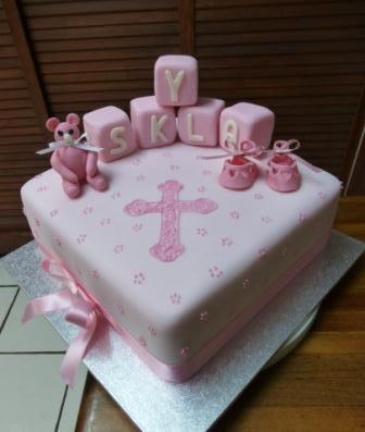 Ann's Unique Cakes Christening Cake