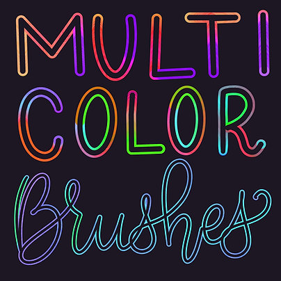 Multicolor Brush Set
