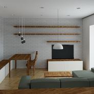 Interiér bytu, 2019, Brno