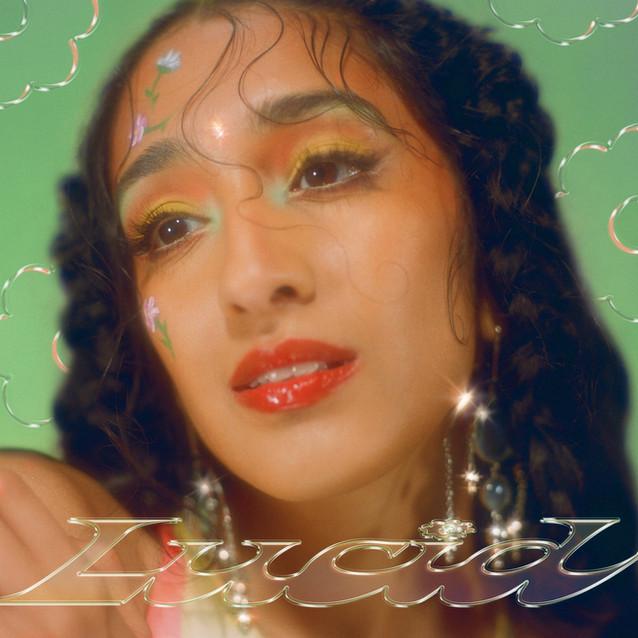 """Raveena """"lucid"""" album cover"""