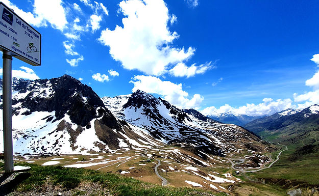 Snow capped Tourmalet and switchback bike tour experience, with Breakaway Cycle Tours
