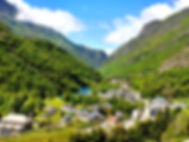 Stunning village of Gedre, nesteled in the French Pyrenees, experienced with Breakaway Cycle Tours