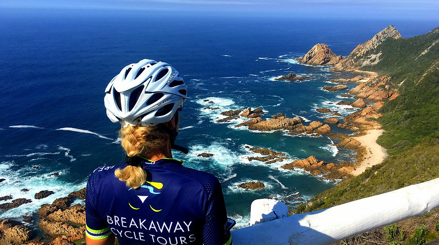 Magnificient views of Robberg Nature Reserve, Plettenberg Bay, South Africa from, on tour with Breakaway Cycle Tours