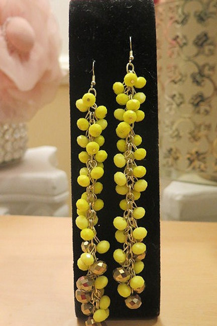"""Reina"" Yellow Earrings"
