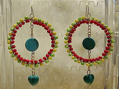 Colorful loop Earrings