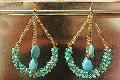 """""""Victoria"""" Turquoise Earring"""