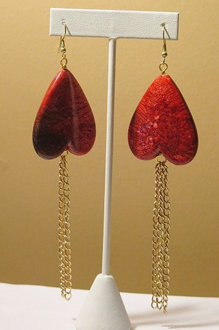 Red Heart Shape Earring