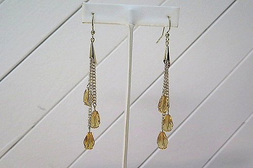 Gold ChampaignTone Dropping Earrings