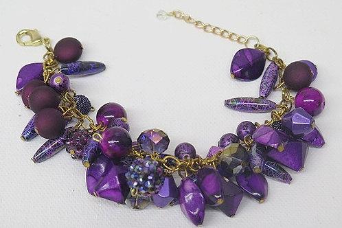 Reina Purple  Bracelet
