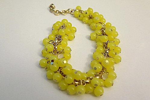 Reina Lemon Green Cluster Bracelet