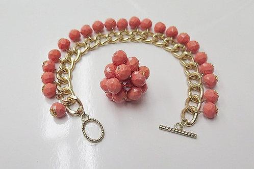 Orange Jewelry Set
