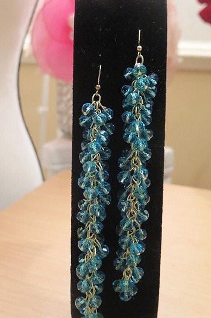 """Reina"" Blue earring"