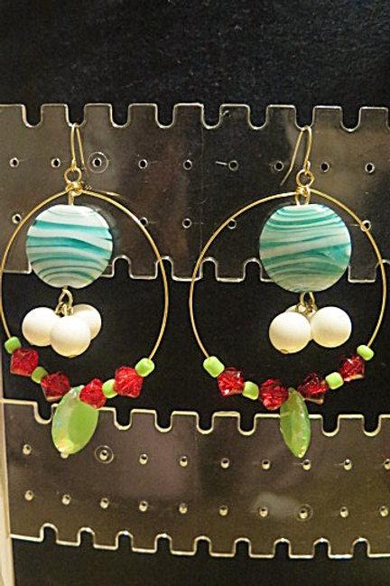 """Colorful """"Ziva""""  Hoop Earrings"""