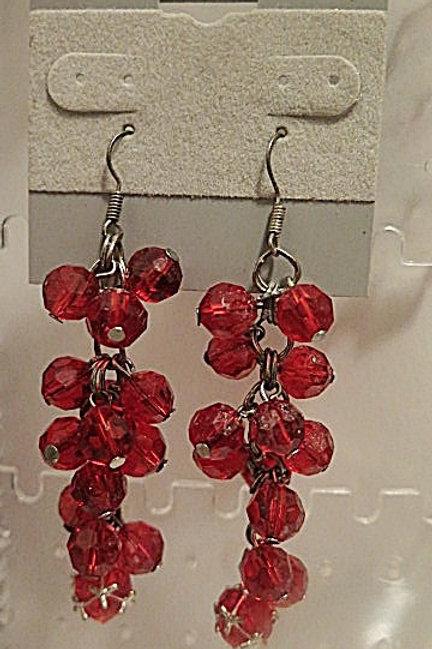 Red 'Reina' Earrings