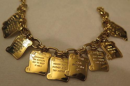 Ten Commandments Charm Bracelet