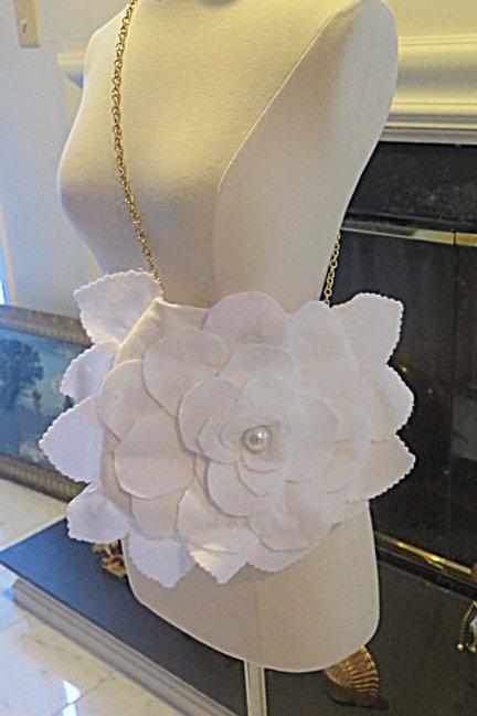 White Flower Felt Princess  bag