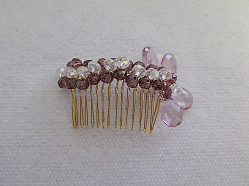 Purple Bridal Comb