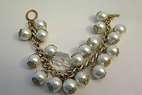 White Cluster Bracelet