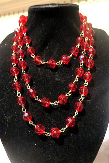 """""""Leona""""  Red Necklace"""