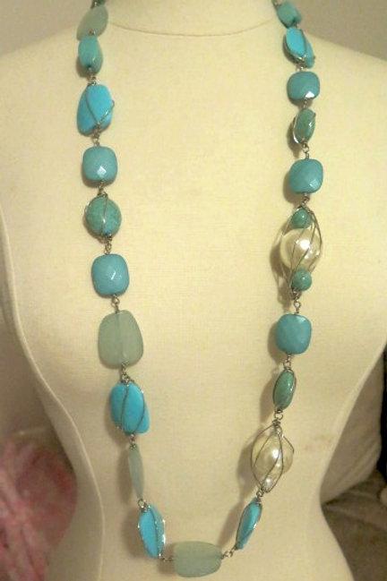 """Empress"" Blue Extra Long Necklace"