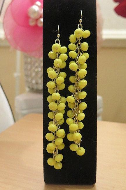 """""""Reina"""" Yellow Earrings"""