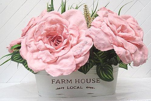 Pink/Greenery Floral Arrangement