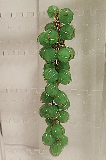 """""""Reina"""" Green Chunky Cluster Bracelet"""