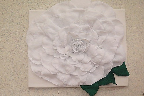 3 D White Rose Wall Arts