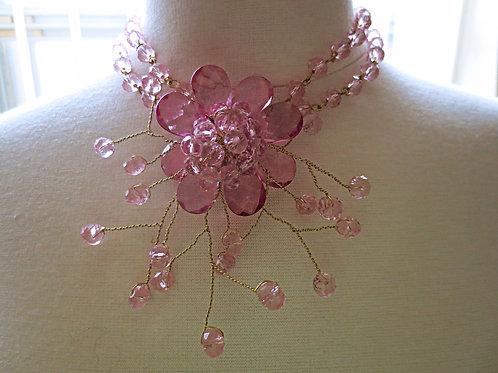 """Trixie"" Pink Floral twist"