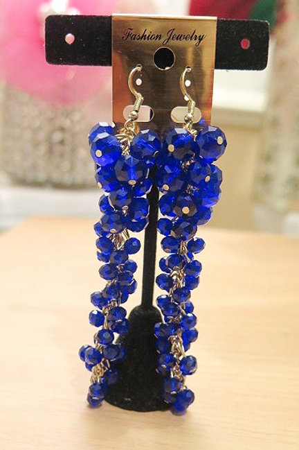'Reina' Blue Earring