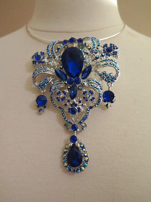 'Royalty'  Royal Blue Necklace