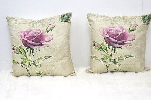 Purple/ Brown Decorative Pillow Cover