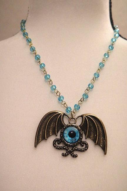 """Leona"" Blue Necklace"