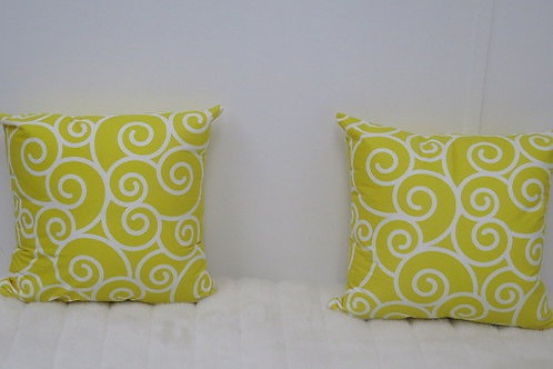Yellow and White Decorative Pillow Cases