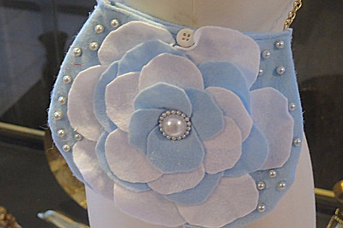 Blue Flower Felt Princess  bag