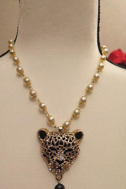 """""""Parisien""""  Panther Necklace"""