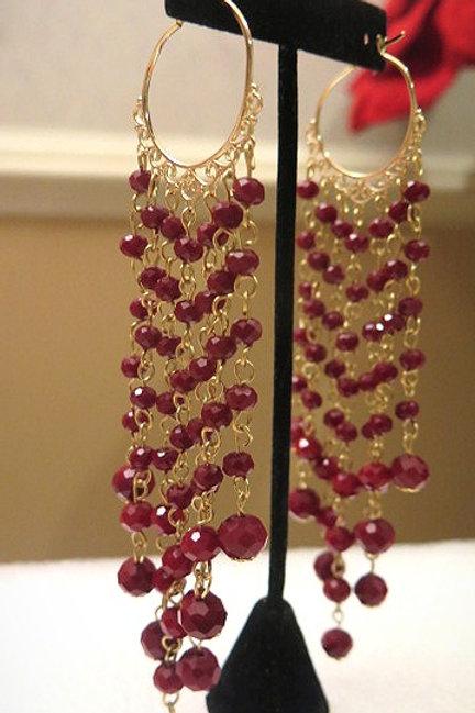 Red Hoop Zelda Earrings