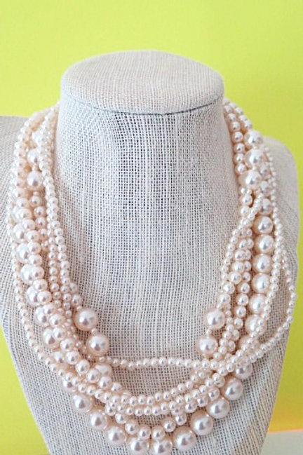 Multi stranded Pearl Necklace