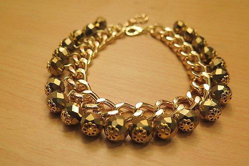 """Reina"" Gold Tone Bracelet"