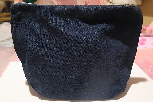 Denim Cosmetic/Make-up/ toiletry Bag