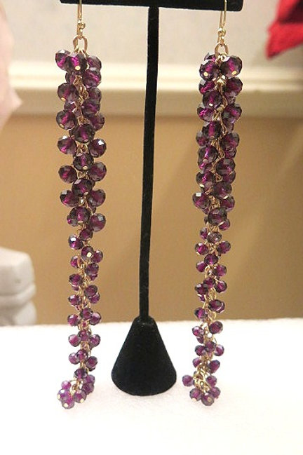 Amethyst Reina Grapes Earrings