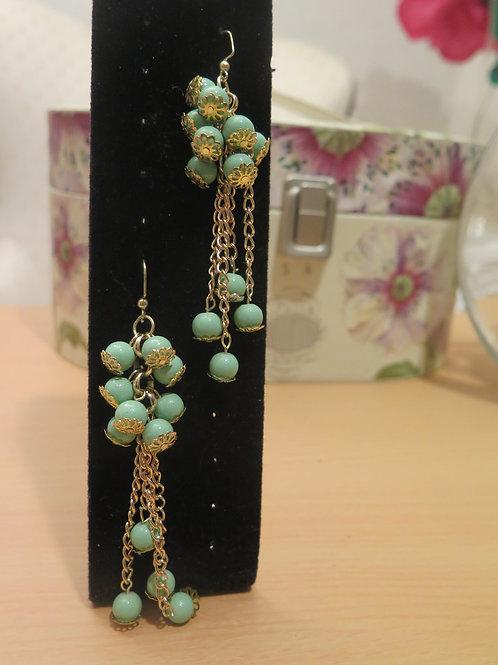 """Saskia""Mint Earrings"