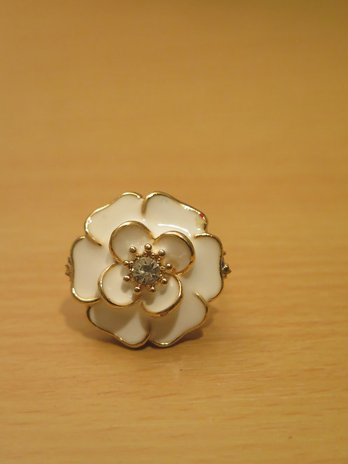White Floral Ring