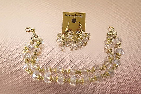Clear Jewelry Set